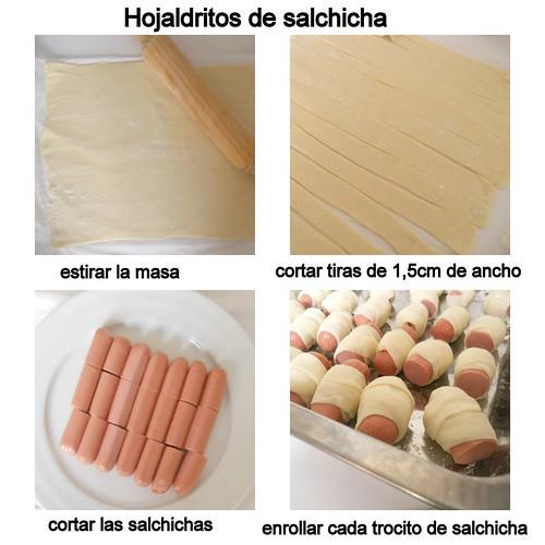 Hojaldritos de salchicha