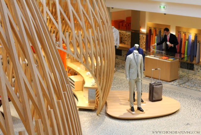 Hermes Rue Sevres store view of mens apparel by Chic n Cheap Living