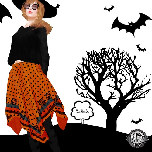 NuDoLu Jupe carree Halloween orange for RMK Gothic AD