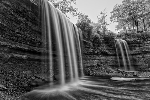 longexposure summer blackandwhite bw ontario water backlight waterfall afternoon shadows sunny manitoulinisland bridalveilfalls lakehuron northernontario northchannel niagaraescarpment 8seconds kagawong neutraldensityfilter colorefex mudgebay niksoftware nd106 plungewaterfall silverefex detailextractor kagaongriver