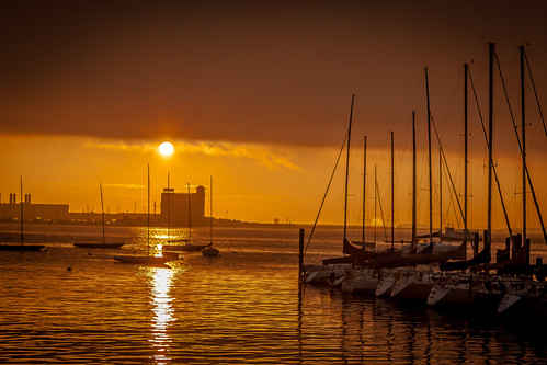 Boston Harbor Early Morning by Alfredo Requena Photography