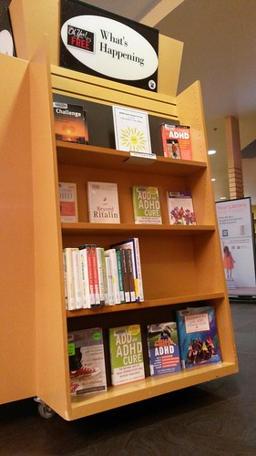 Brighouse Library, Richmond ADHD Awareness Week book display photo #2