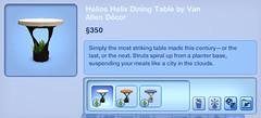 Helios Helix Dining Table by Van Allen Decor