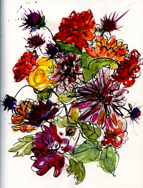 Journal: October flowers, before frost