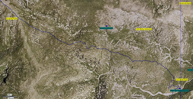 Mapa aéreo desde el Mas de Montañes por la Costa dels Pugets