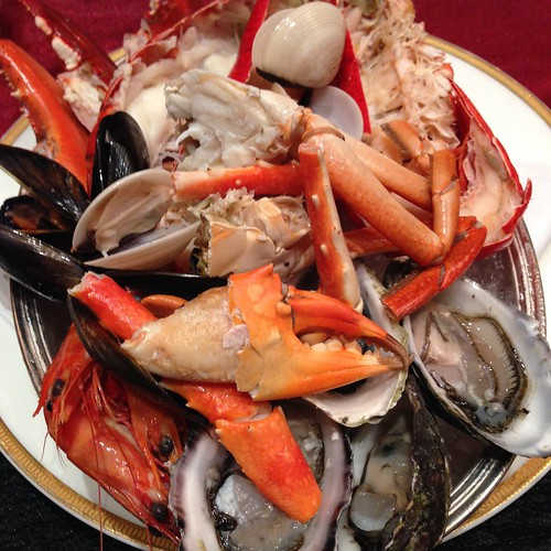 A Medley of Seafood: A selection from the line at Brasserie Les Saveurs