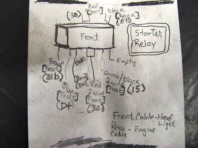 Starter Relay Wiring Notes