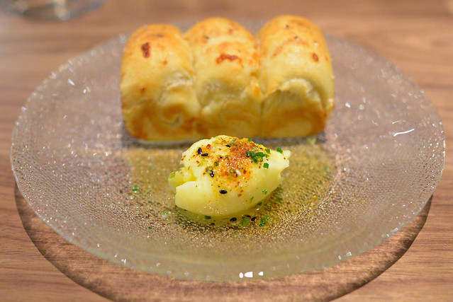 milk bread foccacia, togarashi butter