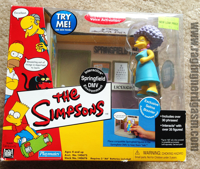 Playmates Play sets The Simpsons Springfield DMV with Exclusive Selma Bouvier