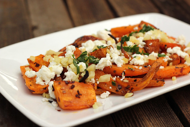 Harissa Roasted Carrots with Preserved Lemons and Feta (Gluten-free w/ Vegan-Option)