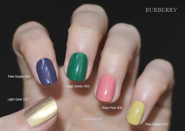 Burberry - Spring/Summer 2014 Runway Nails + Light Gold 107