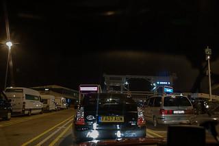 En attente pour l'embarquement sur le ferry à Dover