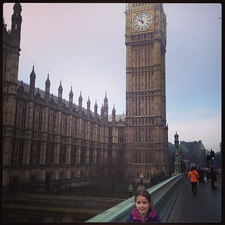 Not an easy shot to take. But my she was excited to see Big Ben.