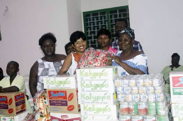Nana Ama McBrown celebrates One Year of Her Accident at Teshie Orphanage