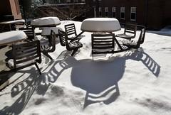 Snowy seats