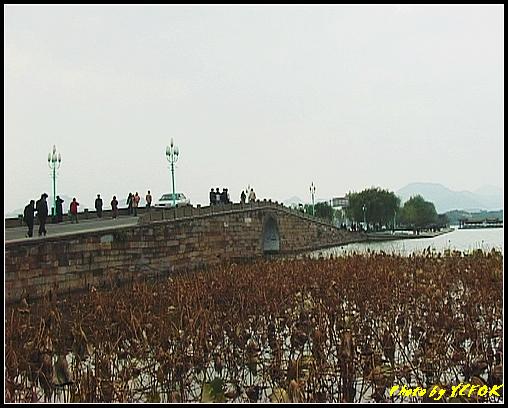 杭州 西湖 (其他景點) - 110 (從北山路湖畔看白堤及西湖十景之 斷橋)