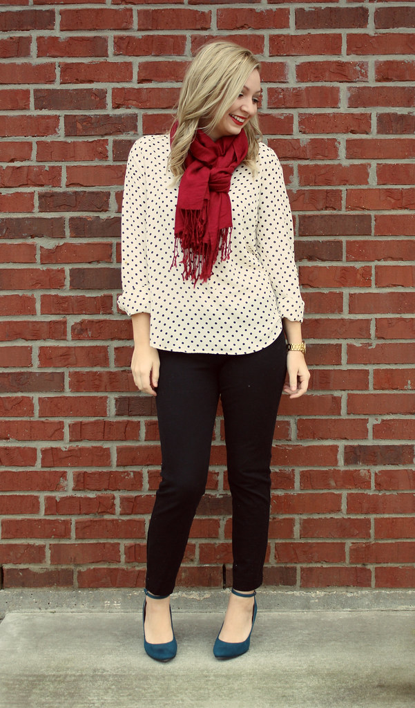 IMG_9146, lauren conrad polka dot blouse, polka dots
