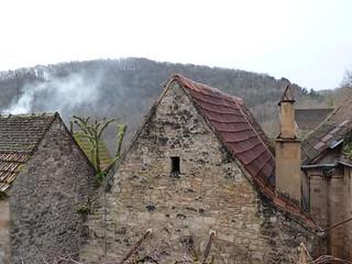 Pueblo del Périgord (Aquitania, Francia)