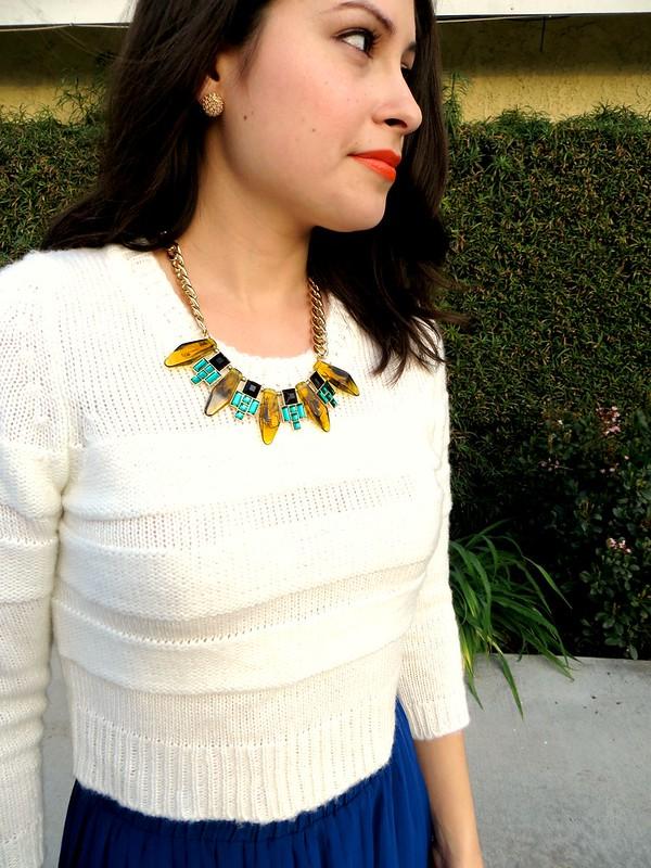 Gold Polka Dots Winter high low skirt 4