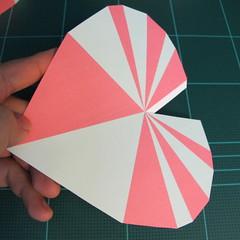 วิธีทำโมเดลกระดาษเป็นกล่องของขวัญรูปหัวใจ (Heart Box Papercraft Model) 011