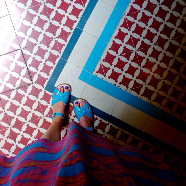 Dressing to match the floors.