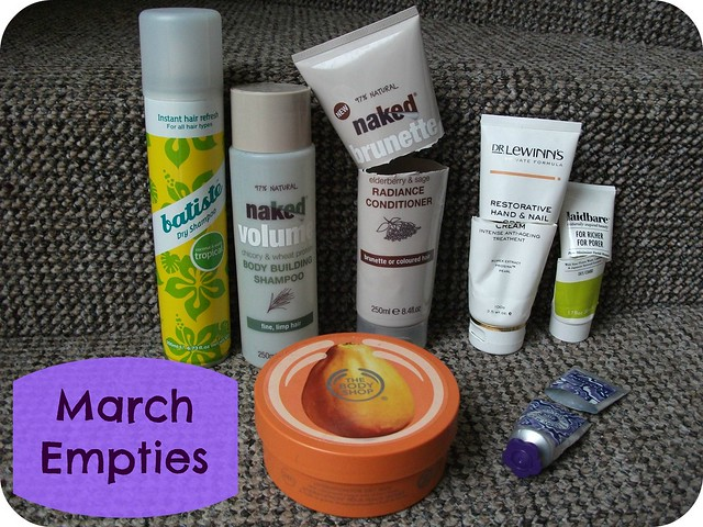 March Empties 2014