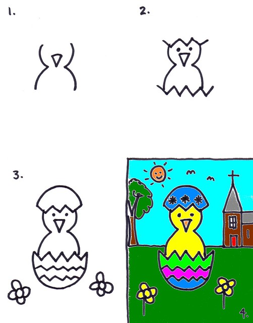 Easter Chick Drawing for Kids | Art for Kids