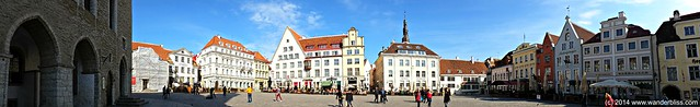 Tallinn Old Town - Town Hall Square Panorama