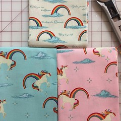 @macarontea Unicorns and Rainbows by @doohikeydesigns for Riley Blake. Bought it from @patterncrushfabrics ❤️