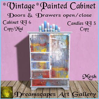 *Vintage* Painted Cabinet - Dreamscapes Art Gallery for The Collage