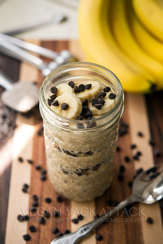 Peanut Butter Banana Chocolate Chia Parfait - A filling, inviting breakfast that is satisfying, and doubles as a dessert! Vegan, gluten-free, soy-free