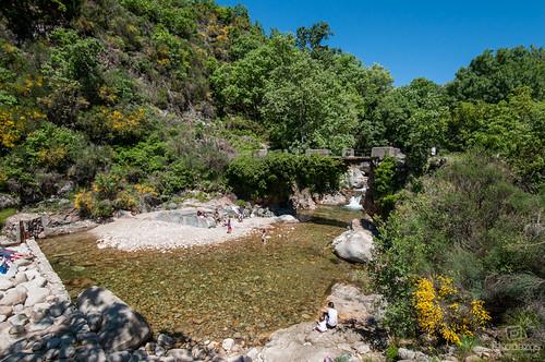 El Charco de la Máquina, la piscina natural de Guijo de Santa Bárbara