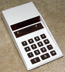 Vintage National Semiconductor Electronic Pocket Calculator, Model 600, Red LED, Made In USA, Circa 1973