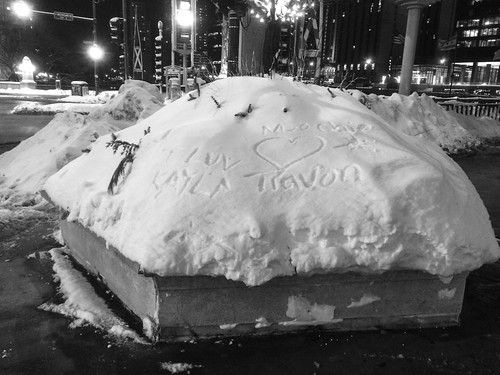 Public displays of affection in snow