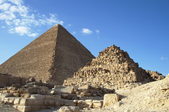 Great Pyramid with Satellite Pyramid