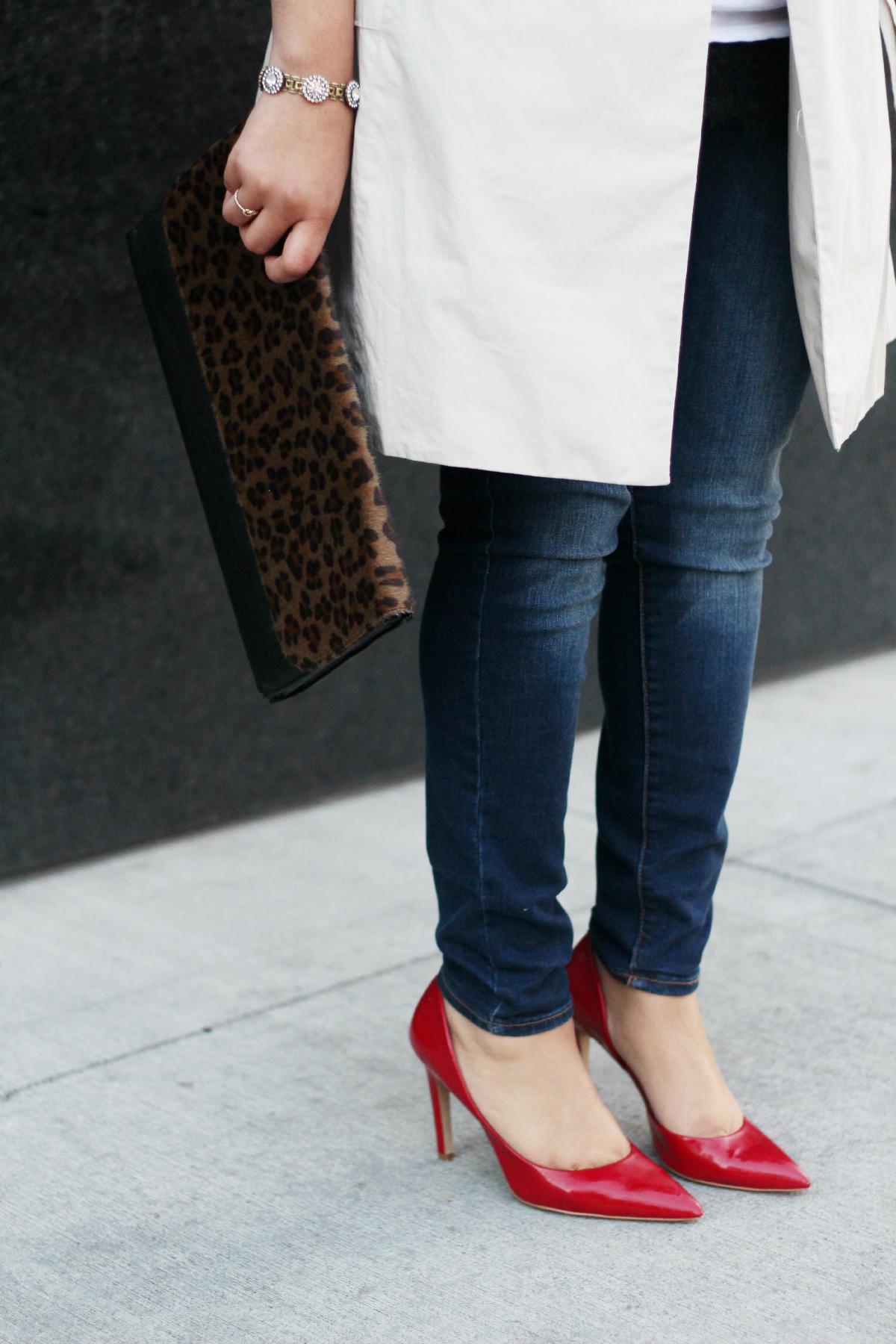 Red Heels & Leopard Clutch