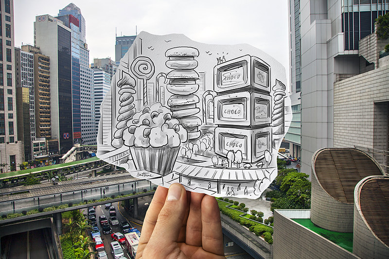 Pencil Vs Camera (Study in Hong Kong)