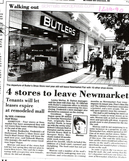 Newmarket Fair Mall, 12-19-1990