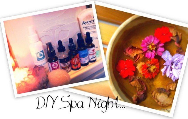 DIY Spa Night step by step