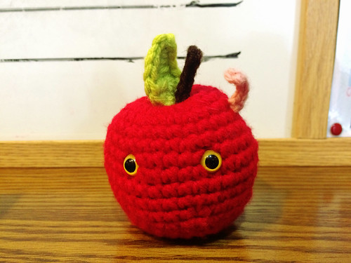 Knitted Apple Gift from Student (May 14 2015)