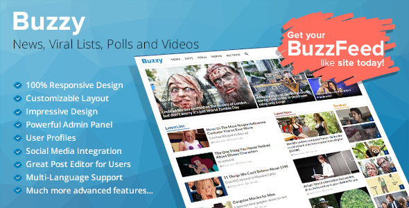 Buzzy v2.5 – News, Viral Lists, Polls and Videos
