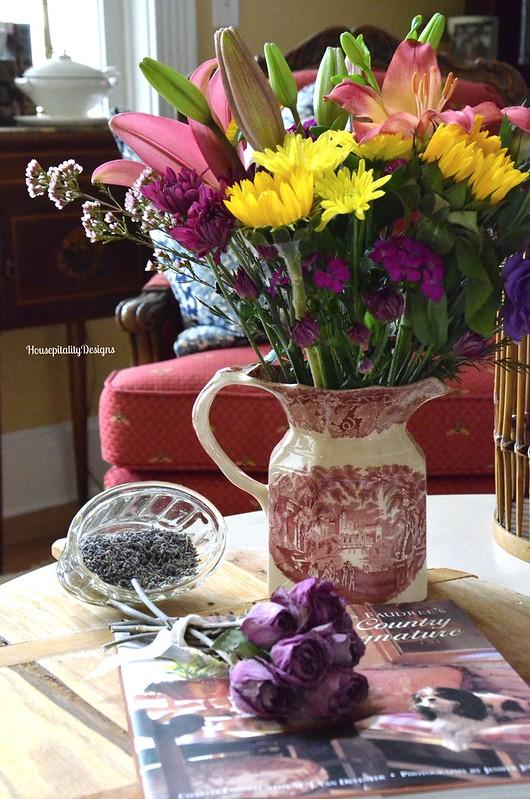 Red Transferware/Flowers - Housepitality Designs