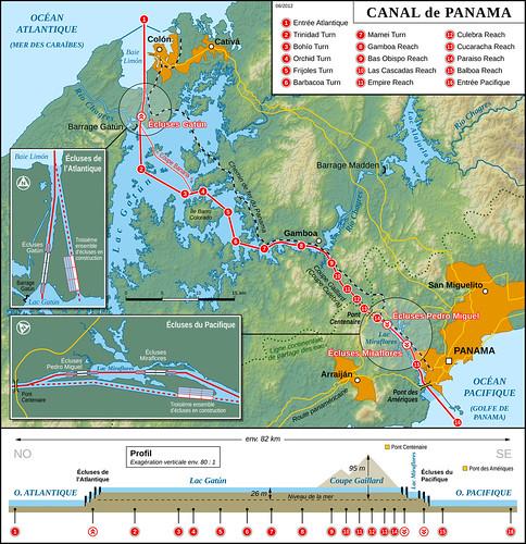 Canal de Panama: ensembles de 3 écluses (dont Miraflores) et un lac