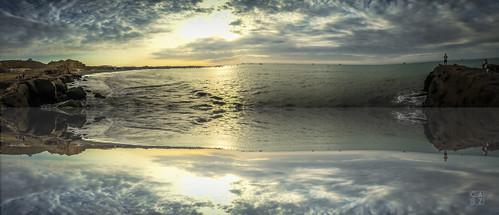 ocean sunset sea sky naturaleza sun sol beach peru nature clouds landscape muelle mar photo wave playa paisaje perú cielo panoramica nubes fotografia pe pacifico oceano peruvian iphone piura underthepier natgeo lobitos talara atrardecer igers igersperu vamosperu ctperu losmuellessurfcamp peruestrella ruteandoperu