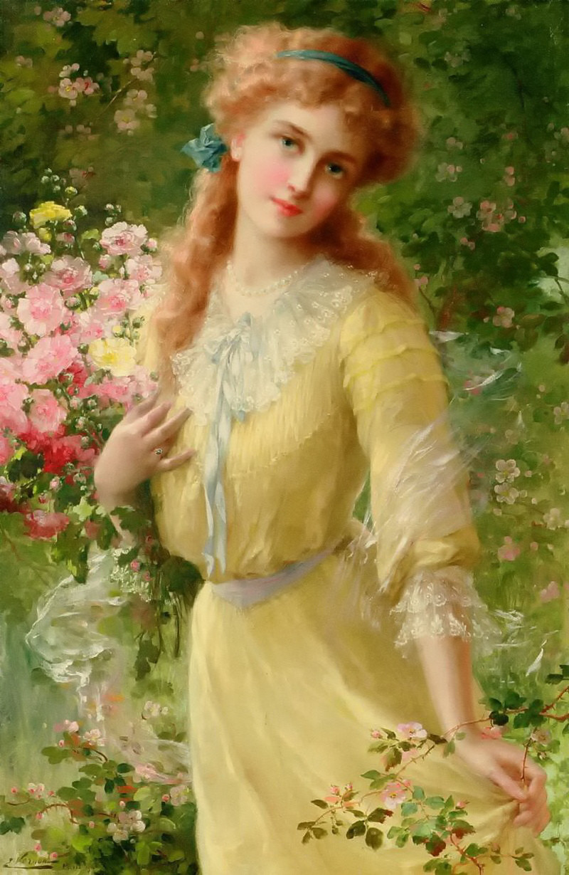 Portrait of a Girl by Emile Vernon - Date unknown