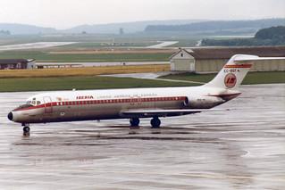 "Iberia McDonnell Douglas DC-9-32 EC-BQY ""Ciudad de Cordoba""   Football World Cup`82 sticker"