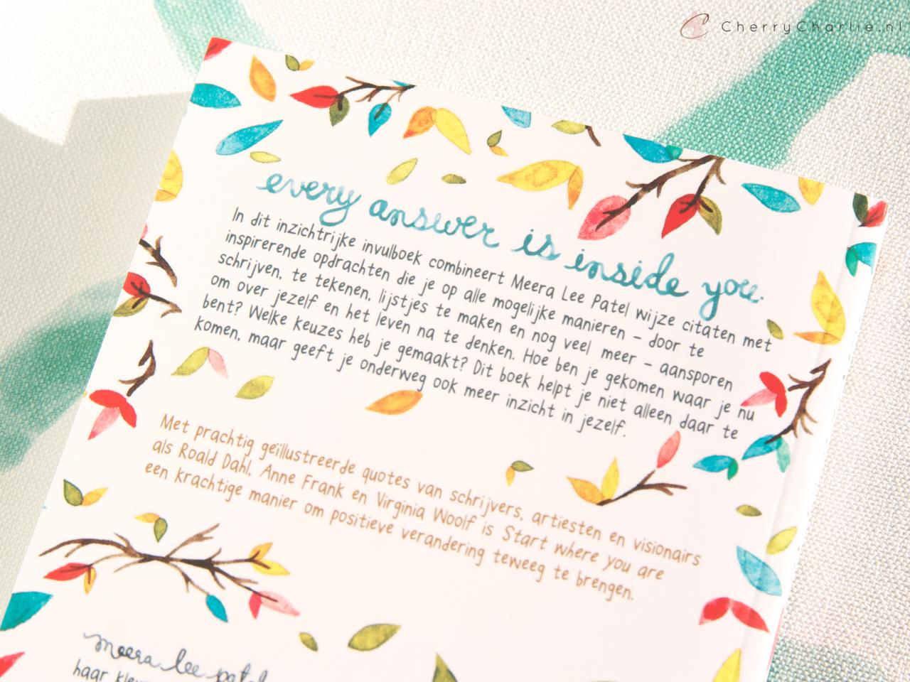Citaten Roald Dahl : Mindfulness start where you are cherrycharlie