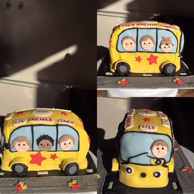 Beep Beep here comes the Bus Cake by Bake O Rama