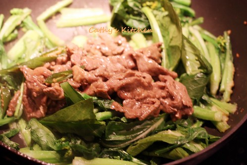 芥蘭炒牛排 Stir fried Steak with Chinese broccoli 10