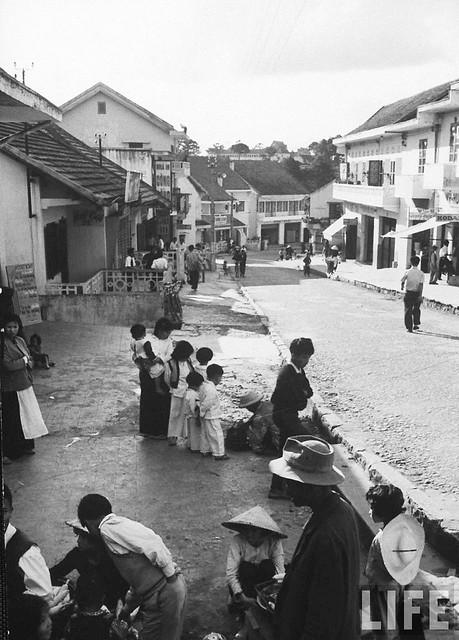 Dalat street scene 1961